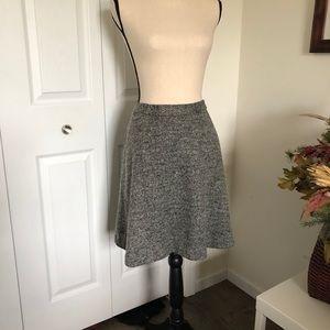 BANANA REPUBLIC heather gray skirt